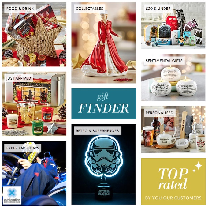 Christmas catalogue gift finder