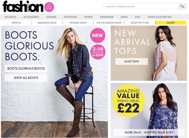 shopping catalogues with credit uk