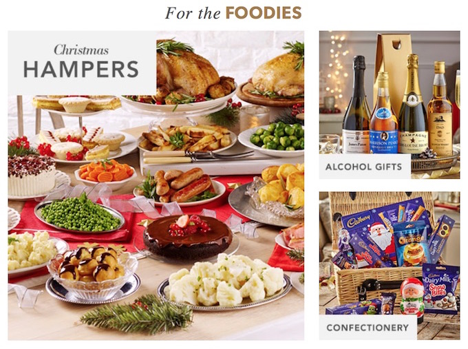 Christmas catalogue hampers